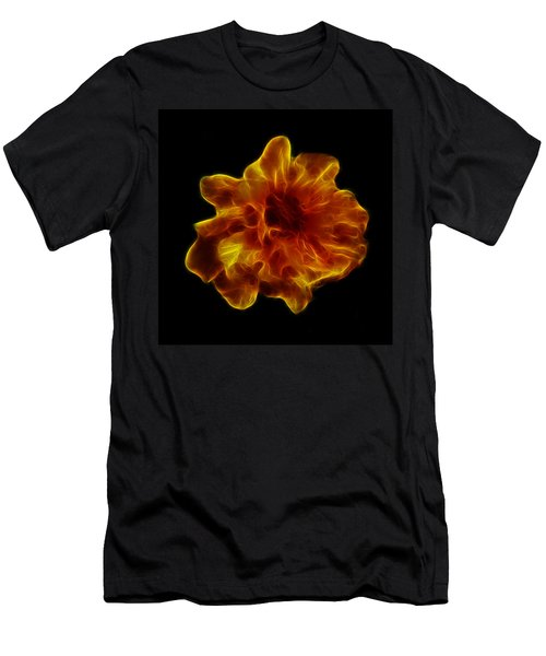 Men's T-Shirt (Slim Fit) featuring the photograph Ball Of Fire by Lynn Bolt