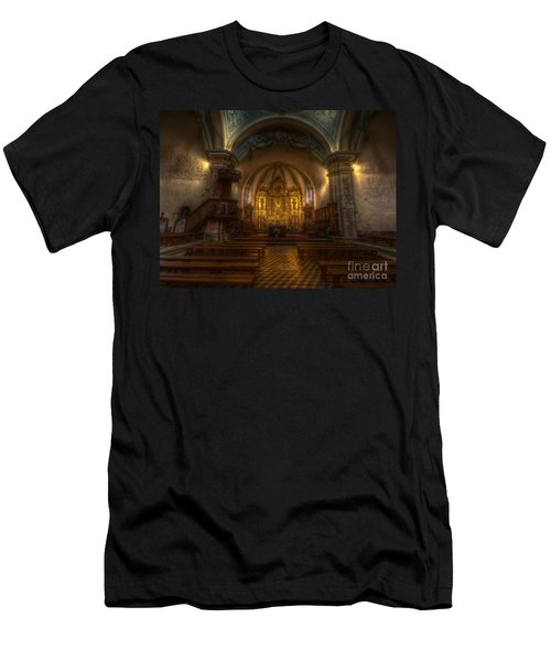 Baroque Church In Savoire France Men's T-Shirt (Athletic Fit)