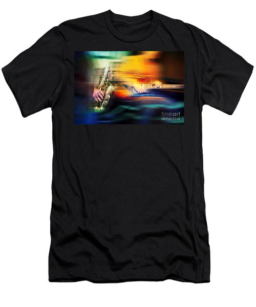 Men's T-Shirt (Athletic Fit) featuring the photograph Basic Jazz Instruments by Ariadna De Raadt