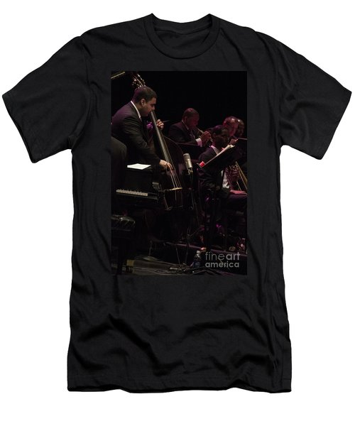 Bass Player Jams Jazz Men's T-Shirt (Athletic Fit)