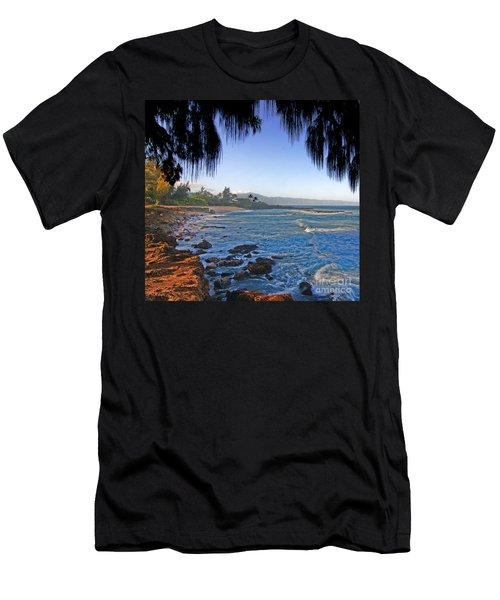 Beach On North Shore Of Oahu Men's T-Shirt (Athletic Fit)