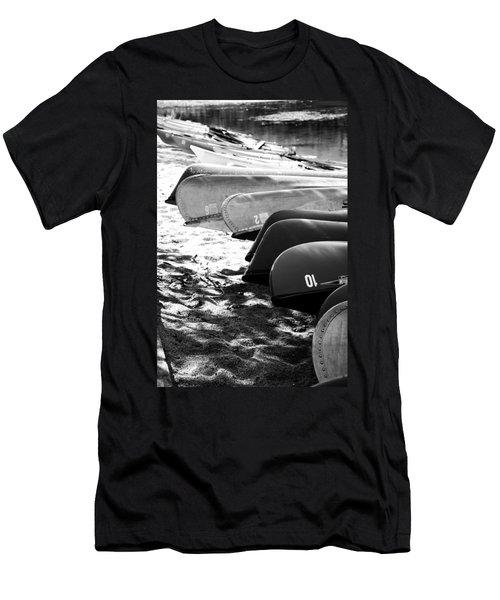 Beached Kayaks Men's T-Shirt (Slim Fit) by Julia Wilcox