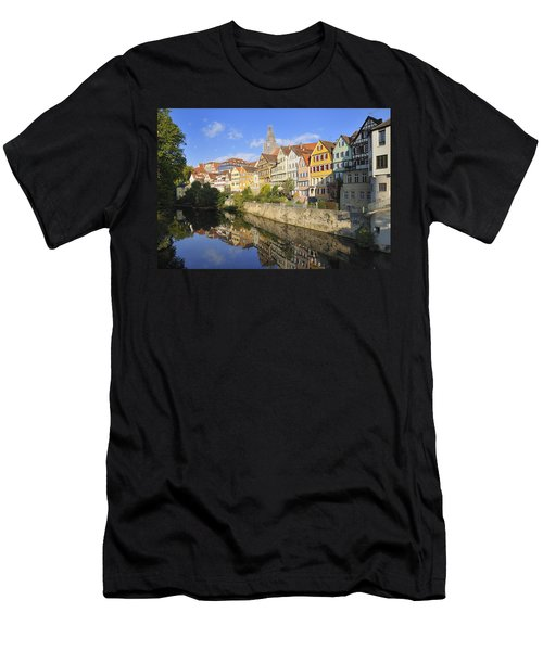 Beautiful German Town Tuebingen - Neckar Waterfront Men's T-Shirt (Athletic Fit)