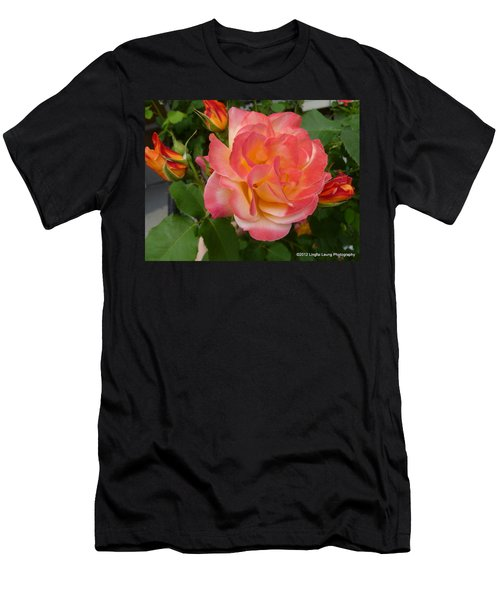 Men's T-Shirt (Slim Fit) featuring the photograph Beautiful Rose With Buds by Lingfai Leung