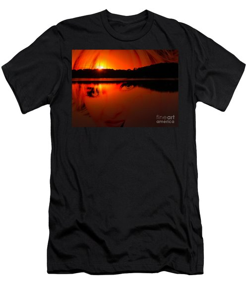 Men's T-Shirt (Slim Fit) featuring the photograph Beauty Looks Back by Clayton Bruster