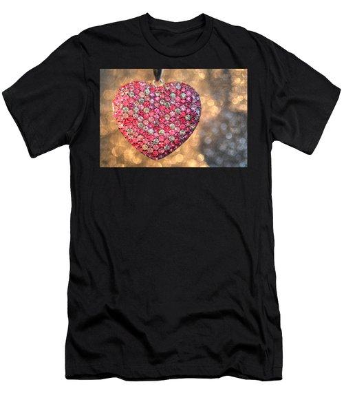 Bedazzle My Heart Men's T-Shirt (Athletic Fit)