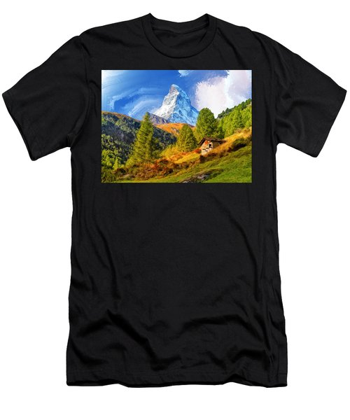 Below The Matterhorn Men's T-Shirt (Athletic Fit)
