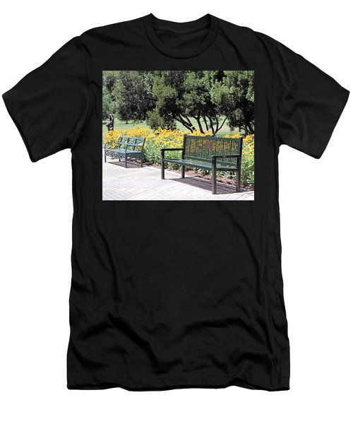 Benches  Men's T-Shirt (Athletic Fit)