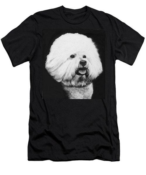 Men's T-Shirt (Slim Fit) featuring the drawing Bichon Frise by Rachel Hames