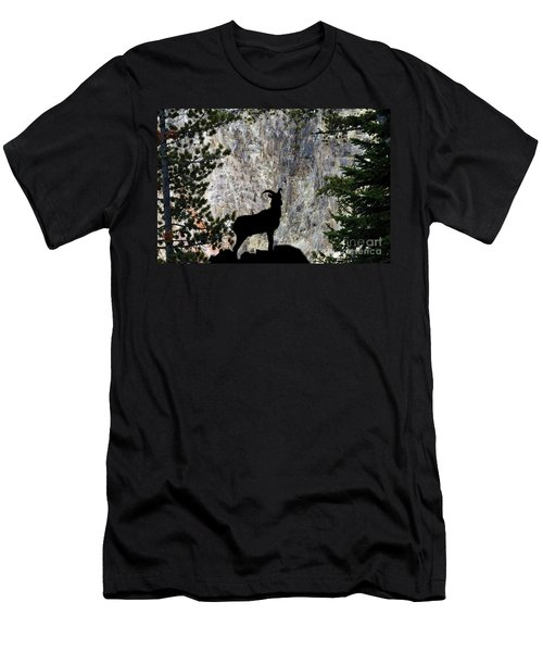 Men's T-Shirt (Slim Fit) featuring the photograph Big Horn Sheep Silhouette by Dan Friend