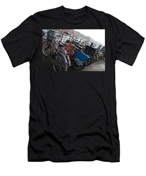 Bikes In Amsterdam Men's T-Shirt (Slim Fit) by Carol Ailles