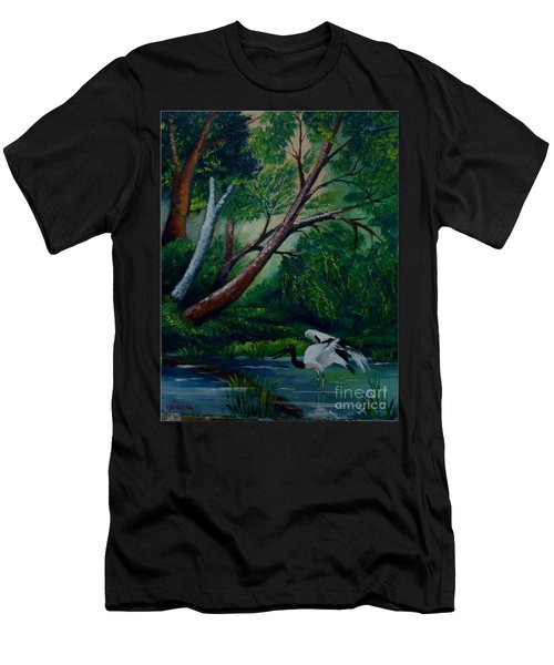 Bird In The Swamp Men's T-Shirt (Athletic Fit)