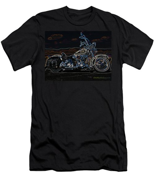 Black And Blue Men's T-Shirt (Athletic Fit)