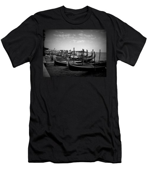 Black And White Gondolas Men's T-Shirt (Athletic Fit)