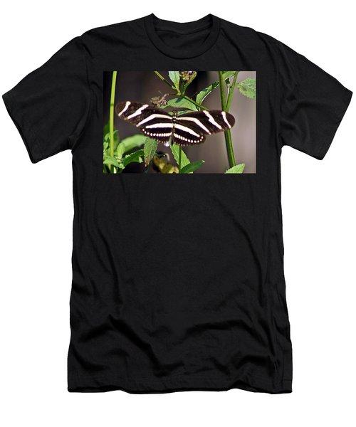 Black Butterfly Men's T-Shirt (Slim Fit) by Joe Faherty