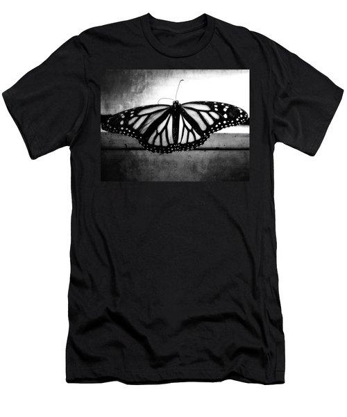 Black Butterfly Men's T-Shirt (Slim Fit) by Julia Wilcox