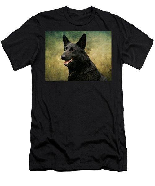 Black German Shepherd Dog IIi Men's T-Shirt (Athletic Fit)