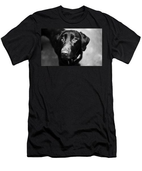 Black Labrador  Men's T-Shirt (Athletic Fit)