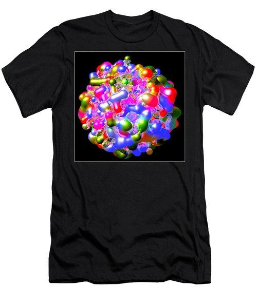 Men's T-Shirt (Slim Fit) featuring the digital art Blob Of Color... by Tim Fillingim