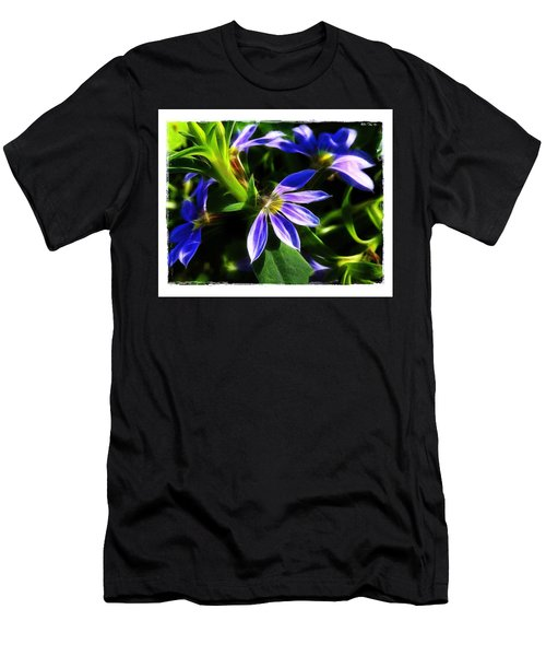 Men's T-Shirt (Slim Fit) featuring the photograph Blue Ballet by Judi Bagwell