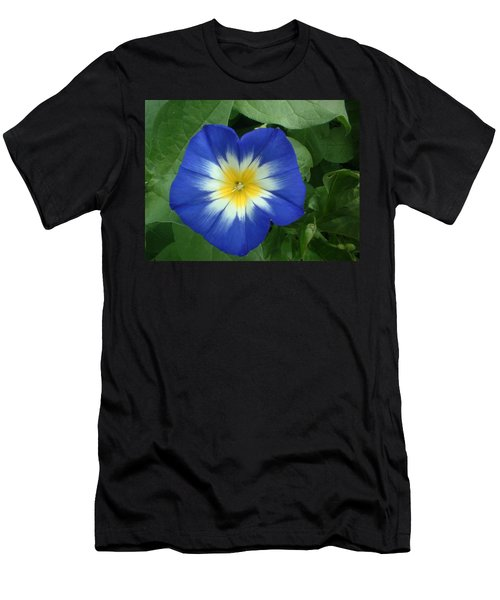 Men's T-Shirt (Slim Fit) featuring the photograph Blue Burst by Bonfire Photography