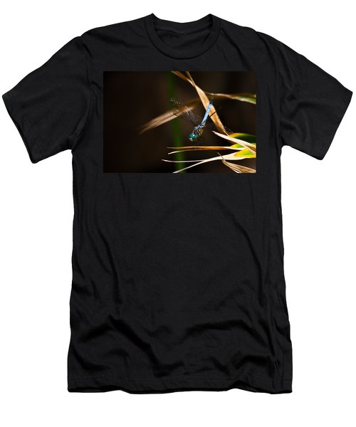 Blue Dasher Dragonfly Men's T-Shirt (Athletic Fit)