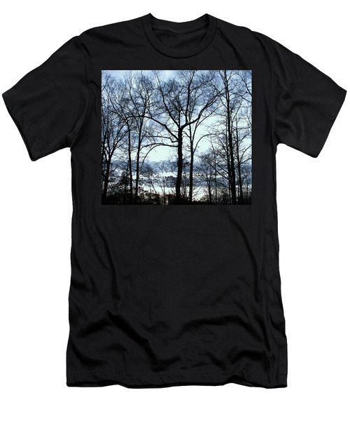 Men's T-Shirt (Slim Fit) featuring the photograph Blue Mirage by Pamela Hyde Wilson