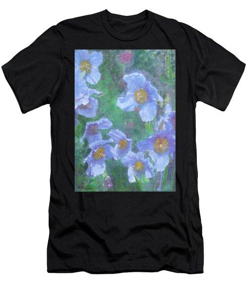 Blue Poppies Men's T-Shirt (Athletic Fit)