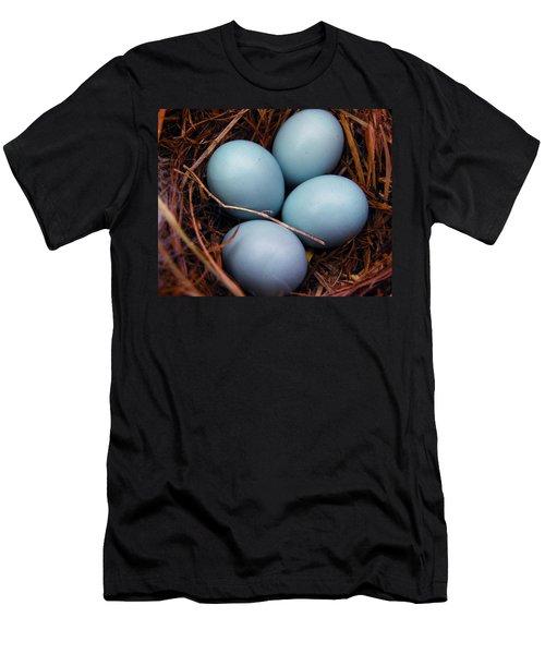 Blue Promises Men's T-Shirt (Athletic Fit)