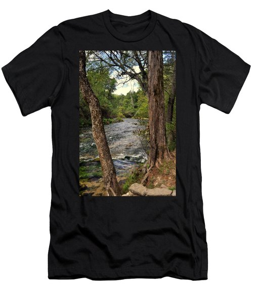 Men's T-Shirt (Slim Fit) featuring the photograph Blue Spring Branch by Marty Koch