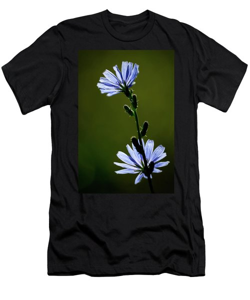 Blue Wildflower Men's T-Shirt (Athletic Fit)