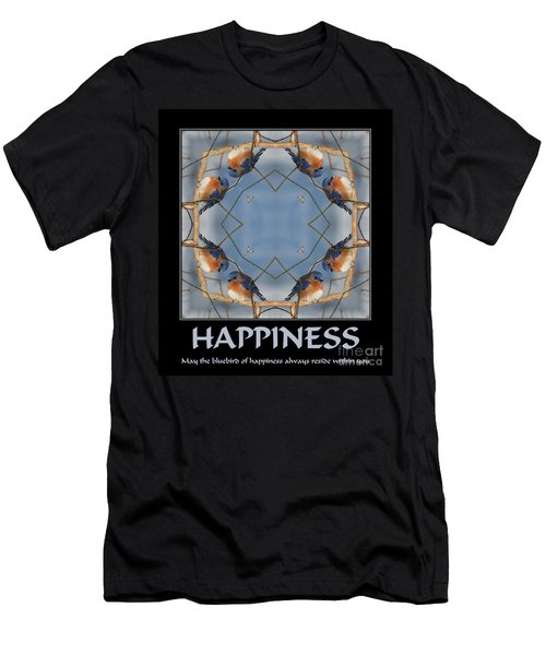 Bluebird Kaleidoscope Happiness Men's T-Shirt (Slim Fit) by Smilin Eyes  Treasures