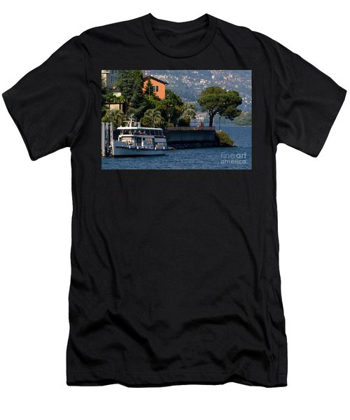 Boat And Tree Men's T-Shirt (Athletic Fit)