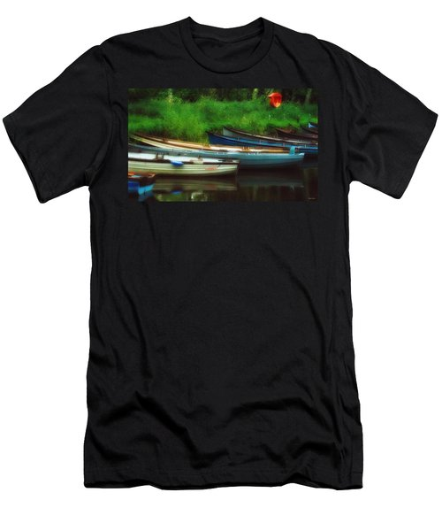 Boats At Rest Men's T-Shirt (Athletic Fit)