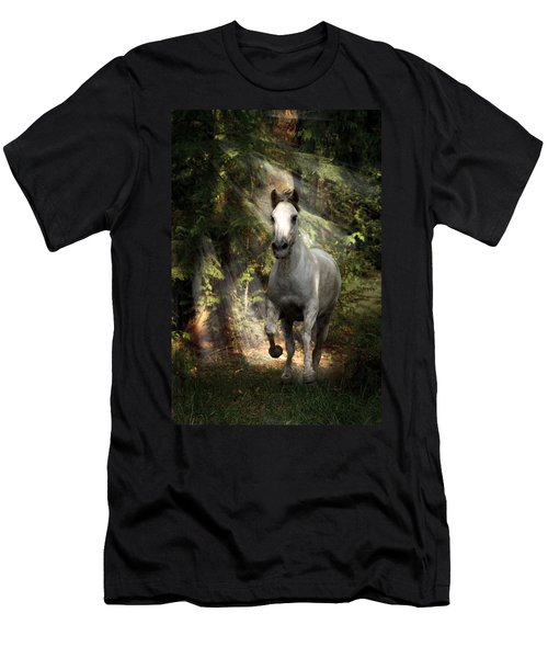Breaking Dawn Gallop Men's T-Shirt (Slim Fit) by Wes and Dotty Weber