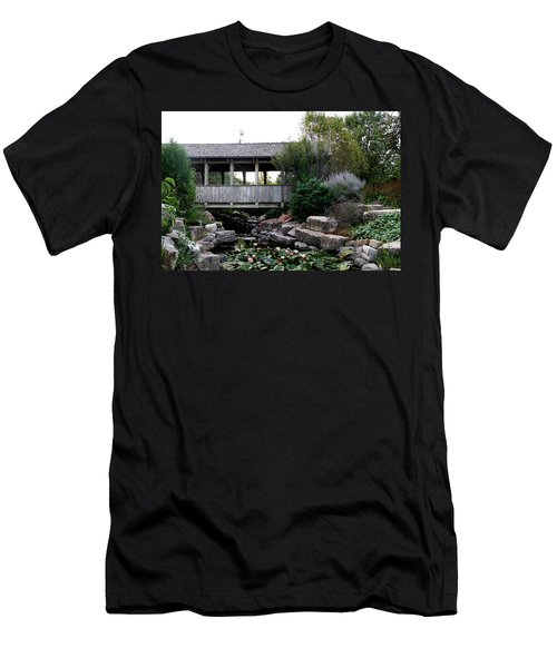 Men's T-Shirt (Slim Fit) featuring the photograph Bridge Over Water by Elizabeth Winter