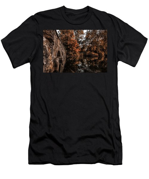 Men's T-Shirt (Slim Fit) featuring the photograph Bridge To Autumn by Tom Gort