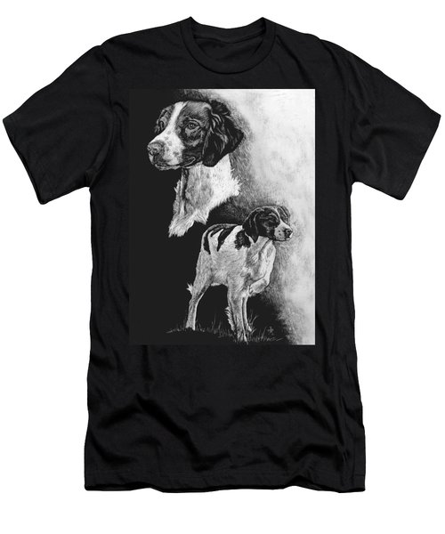 Men's T-Shirt (Slim Fit) featuring the drawing Brittany by Rachel Hames