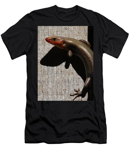 Broad-headed Skink On Barn  Men's T-Shirt (Athletic Fit)