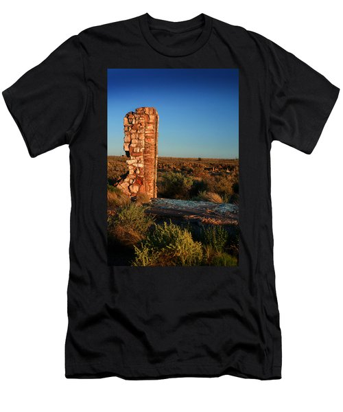 Men's T-Shirt (Slim Fit) featuring the photograph Broken Glass At Two Guns by Lon Casler Bixby