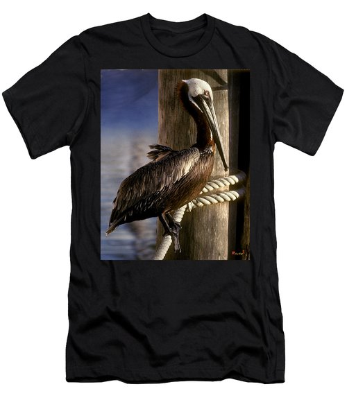 Men's T-Shirt (Slim Fit) featuring the photograph Brown Pelican In Key West 9l by Gerry Gantt