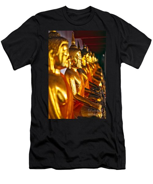Men's T-Shirt (Slim Fit) featuring the photograph Buddhas by Luciano Mortula