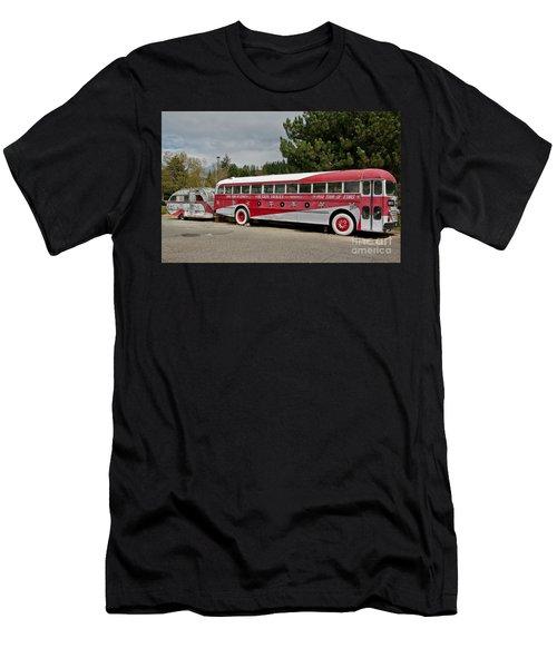 Buddy Holly 1958 Tour Of Stars Bus Art Prints Men's T-Shirt (Slim Fit) by Valerie Garner