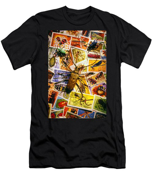 Bugs On Postage Stamps Men's T-Shirt (Athletic Fit)