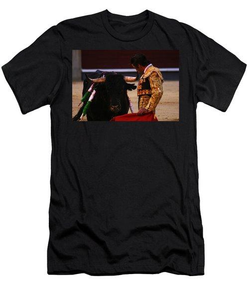 Bullfight Madrid Men's T-Shirt (Athletic Fit)