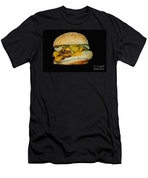 Men's T-Shirt (Slim Fit) featuring the photograph Burgerlicious by Cindy Manero