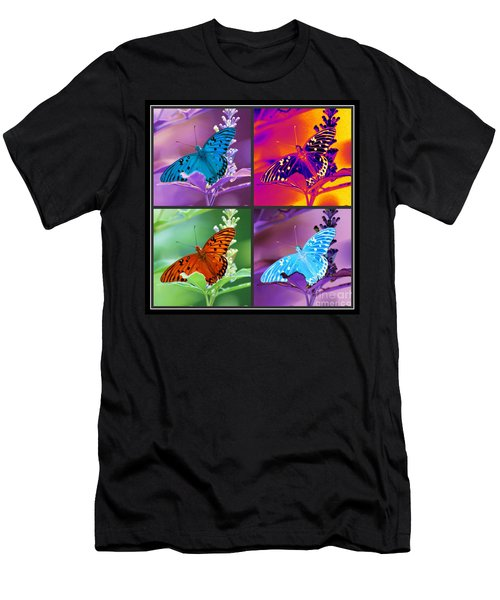 Men's T-Shirt (Athletic Fit) featuring the photograph Butterfly Collage by Donna Bentley
