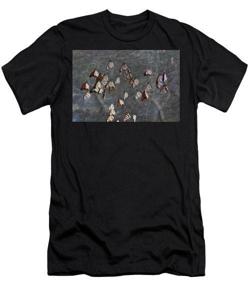Men's T-Shirt (Slim Fit) featuring the photograph Butterfly Gathering by Tam Ryan