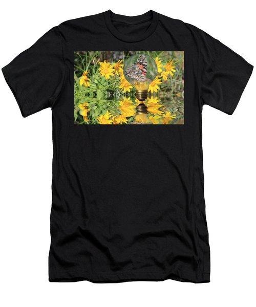 Butterfly In A Bulb II - Landscape Men's T-Shirt (Athletic Fit)