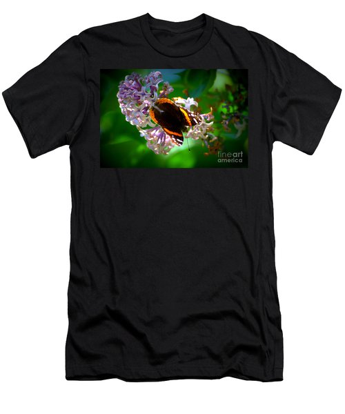 Butterfly On Lilac Men's T-Shirt (Athletic Fit)